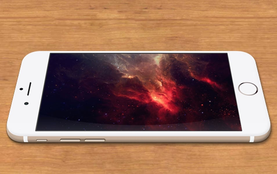iPhone 6 Gold MockUp PSD