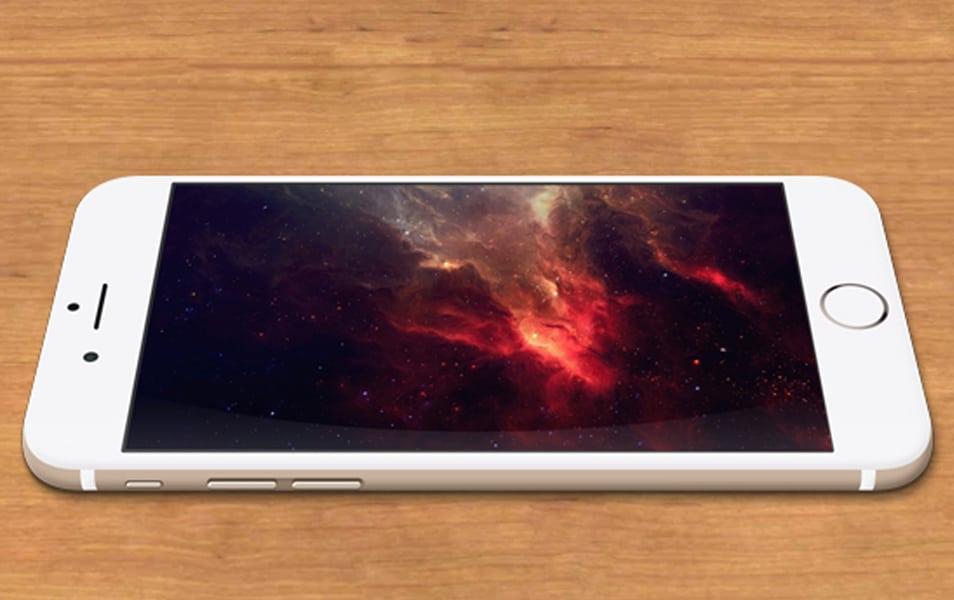 iPhone 6 Gold MockUp PSD