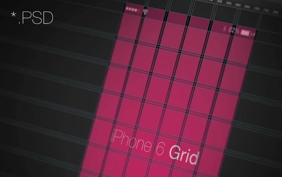 iPhone 6 Grid Mockup Template
