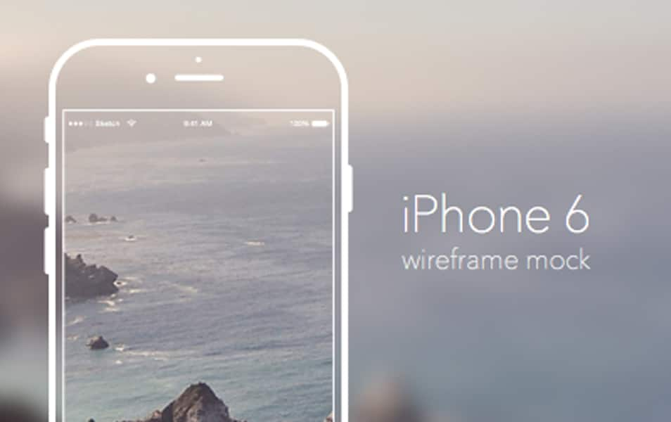 iPhone 6 Mockup Wireframe Sketch