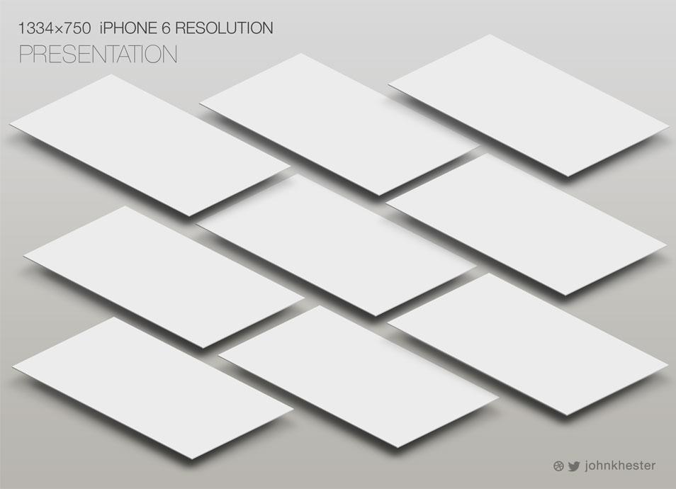 iPhone 6 - Perspective App Screen Mockup