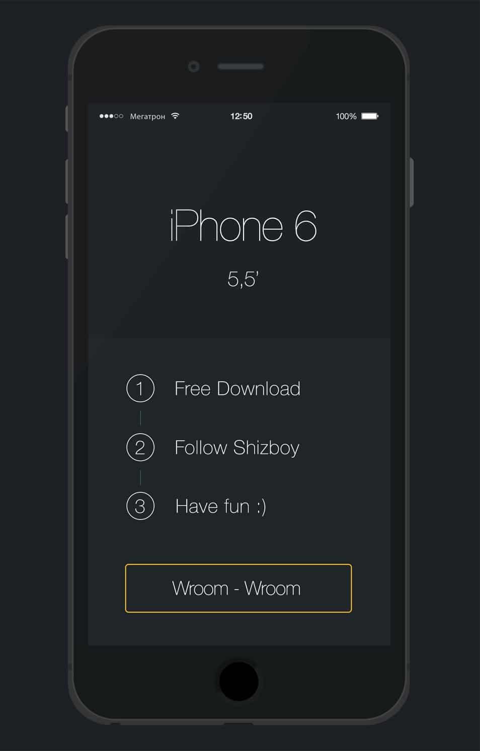 iPhone 6 Plus - Free Psd Flat Mockup