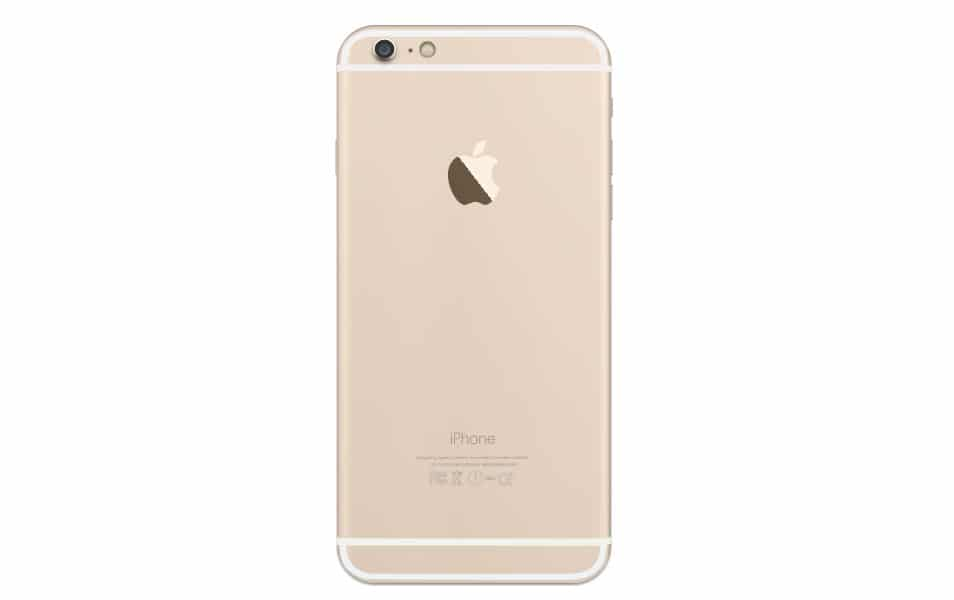 iPhone 6 Plus Gold Back Sketch