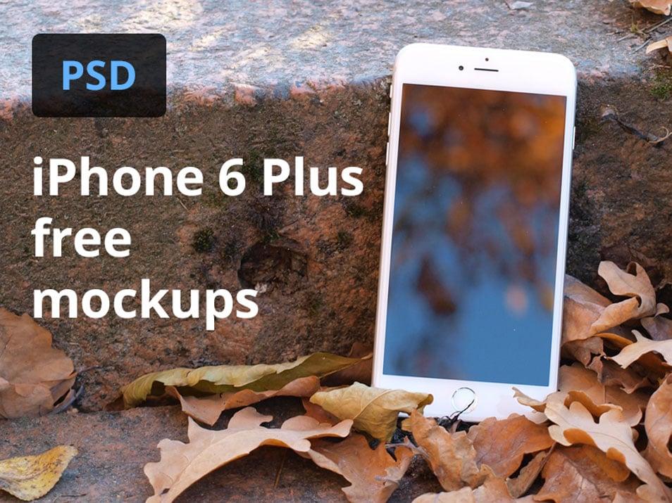 iPhone 6 Plus Mockup Template PSD