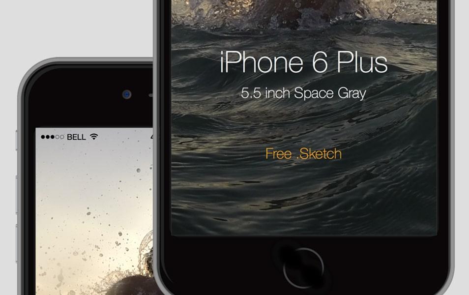 iPhone 6 Plus mock up free .sketch