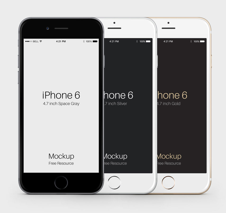 iPhone 6 Psd Vector Mockup
