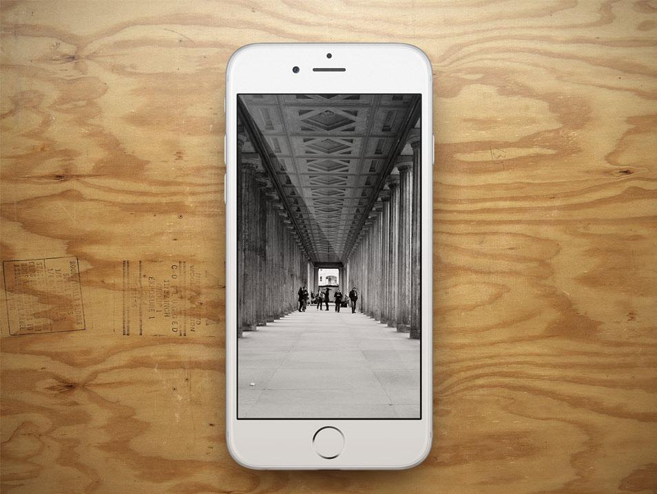 iPhone 6 Showcase Wood PSD