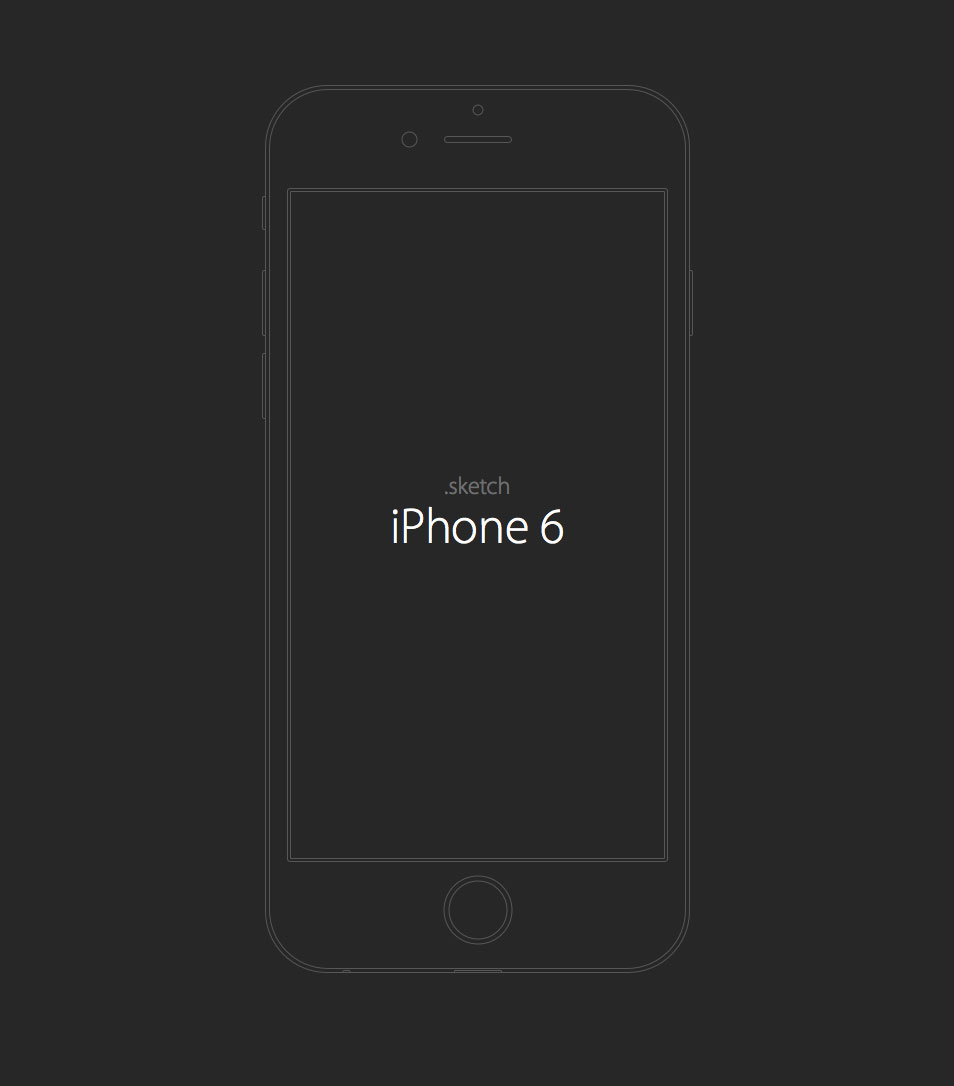 iPhone 6 wireframe sketch