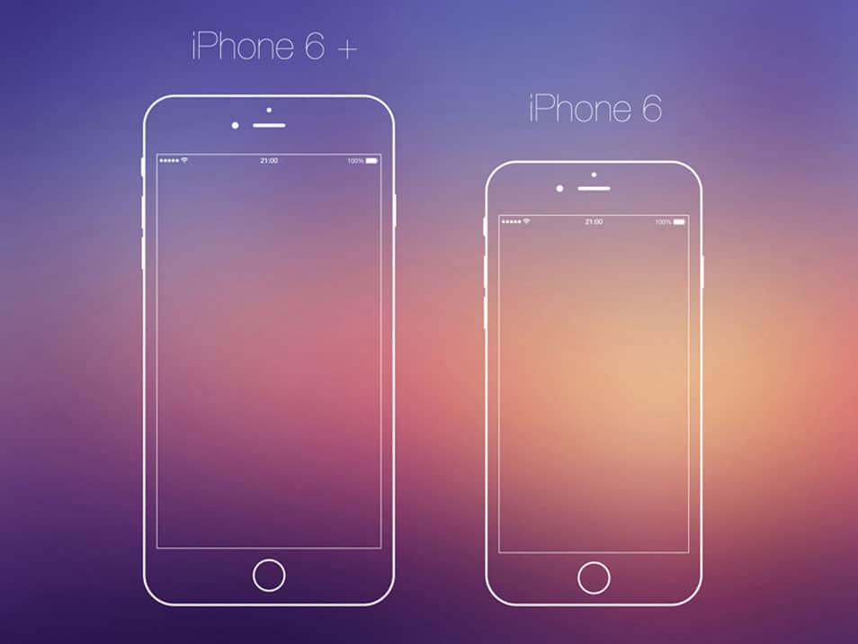 iPhone6 Vector PSD
