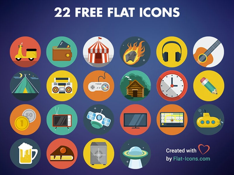 22 Free Flat Icons
