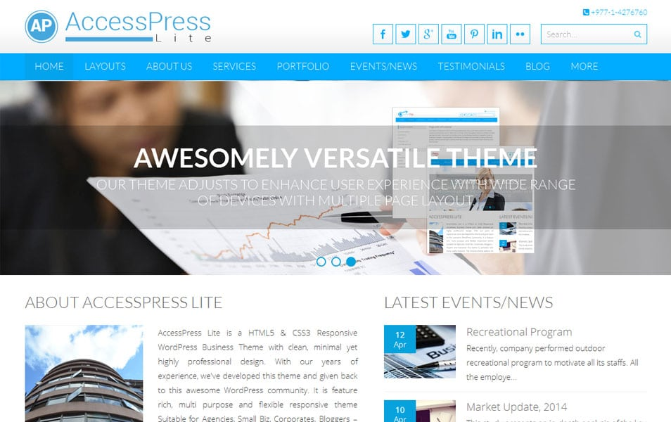 AccessPress Lite Free Portfolio WordPress Theme