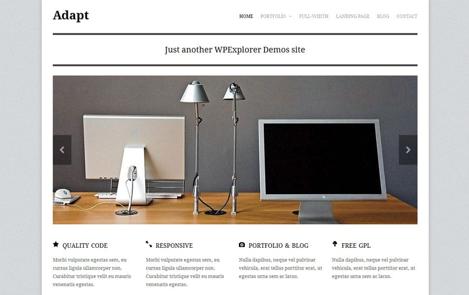 Adapt Free Portfolio WordPress Theme