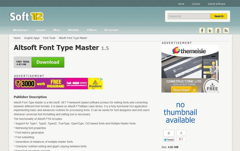 Altsoft Font Type Master