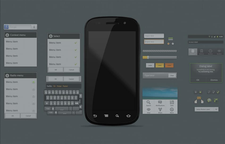 Android 2.3 GUI