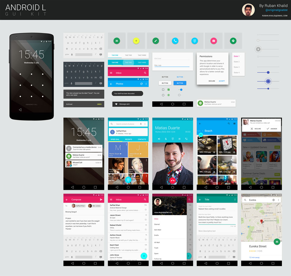 Android L GUI KIT