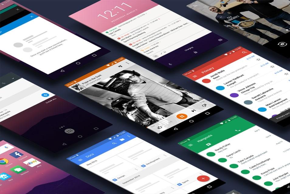Android Nougat UI Kit