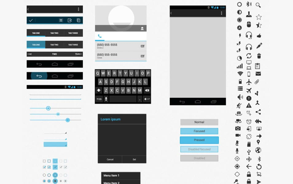 Android UI XHDPI Template (sketch)