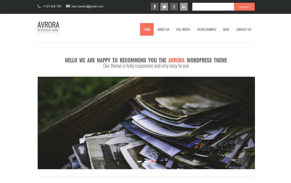 Avrora Free WordPress Theme