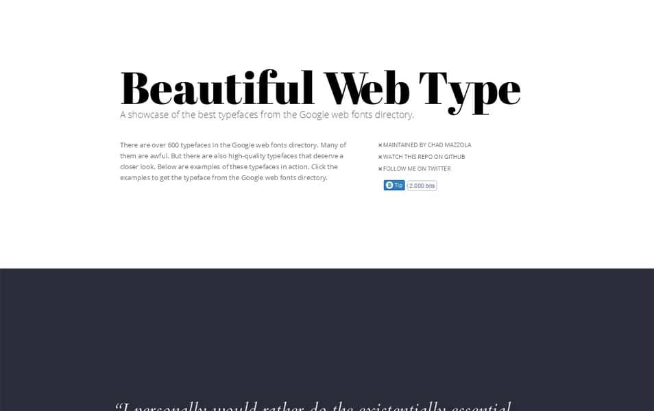 Beautiful Web Type