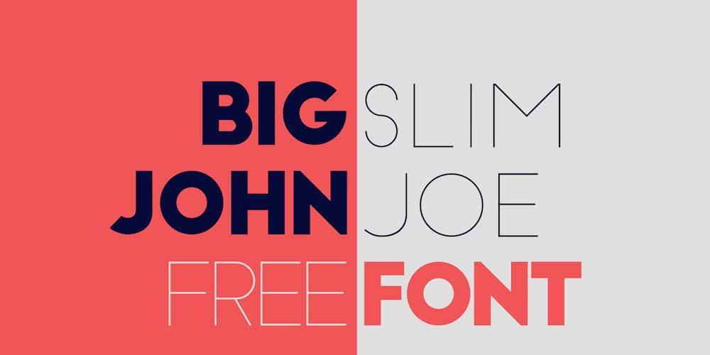Big John or SlimJoe Free Font