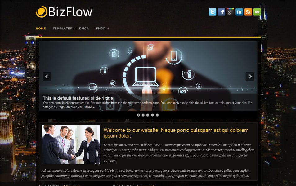 BizFlow Free Portfolio WordPress Theme