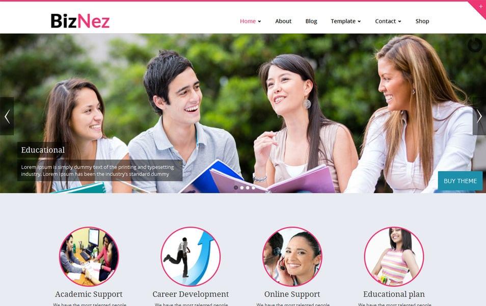 Biznez Lite Free Portfolio WordPress Theme