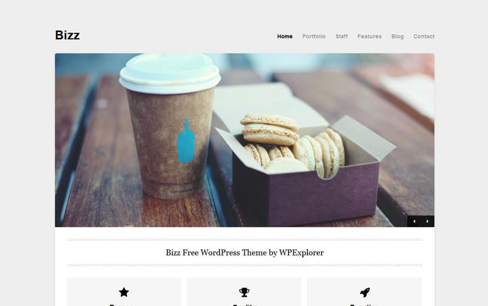 Bizz Free Portfolio WordPress Theme