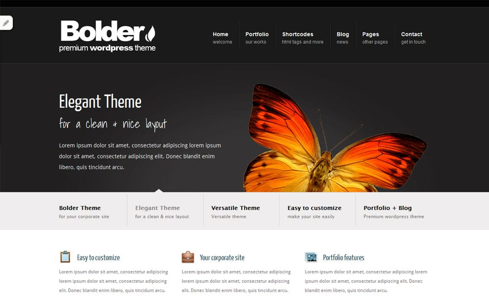 Bolder Free Portfolio WordPress Theme
