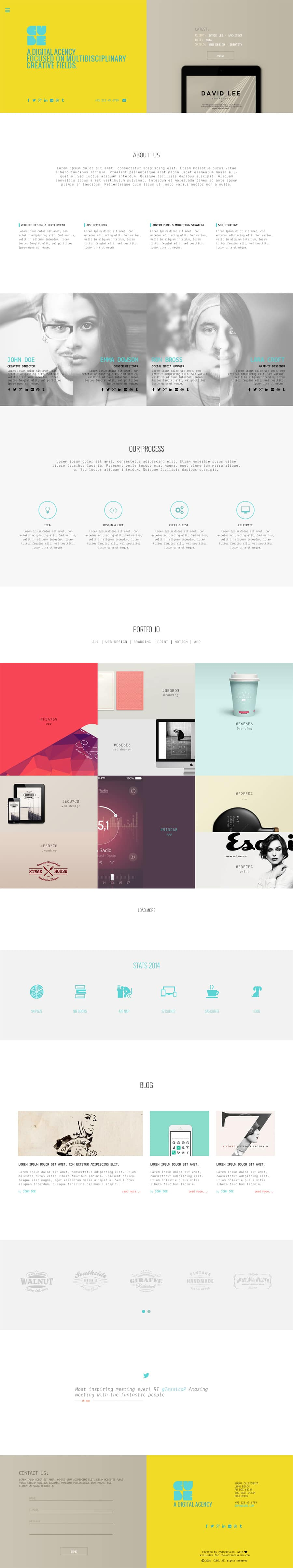 CUBE - Free Web Template PSD