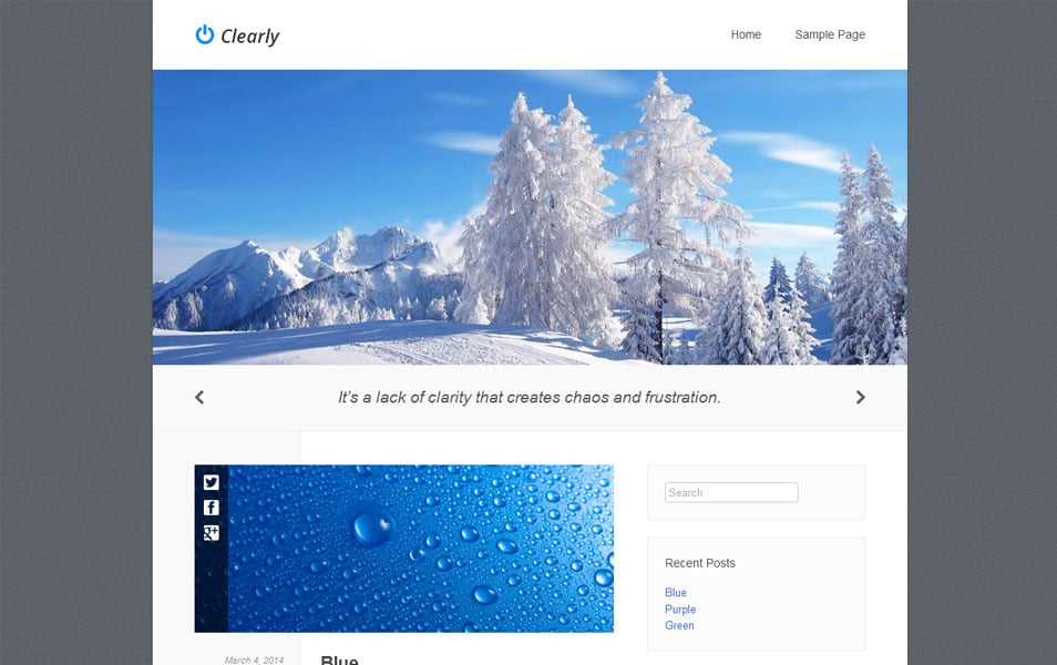 Clearly Free Photography WordPress Theme