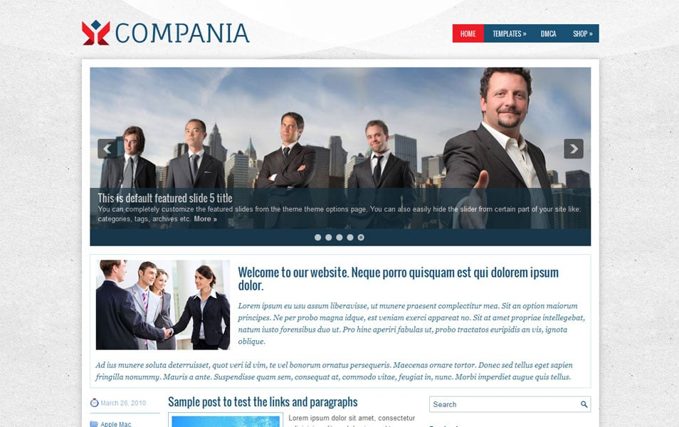 Compania Free Portfolio WordPress Theme