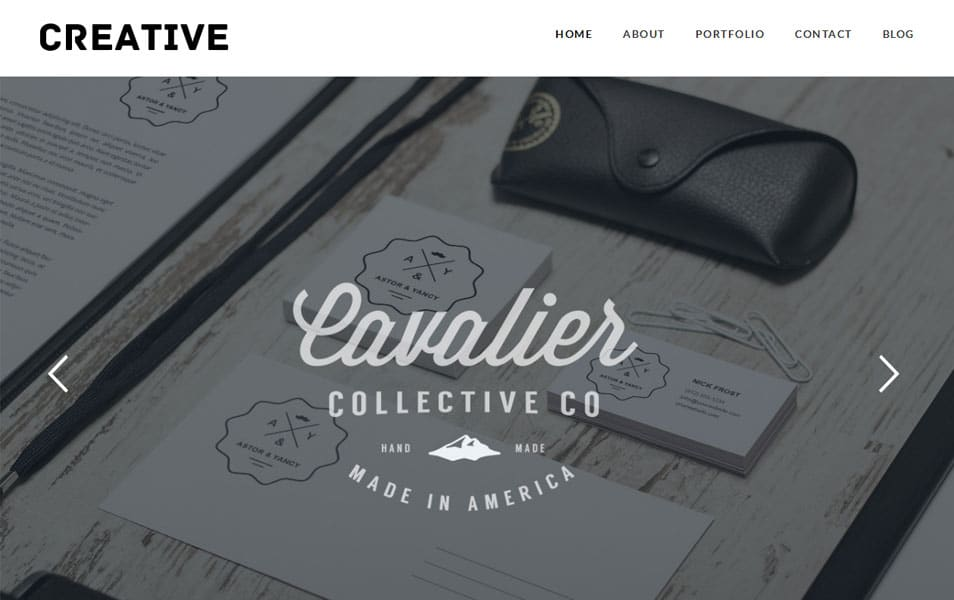 Creative Free Portfolio WordPress Theme