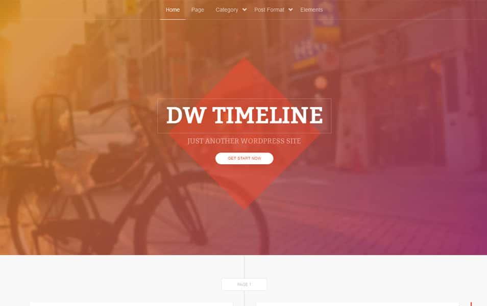 DW Timeline Free Portfolio WordPress Theme