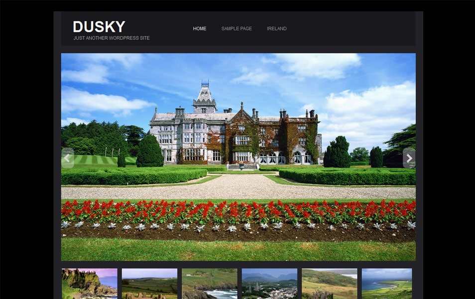 Dusky Free Photography WordPress Theme