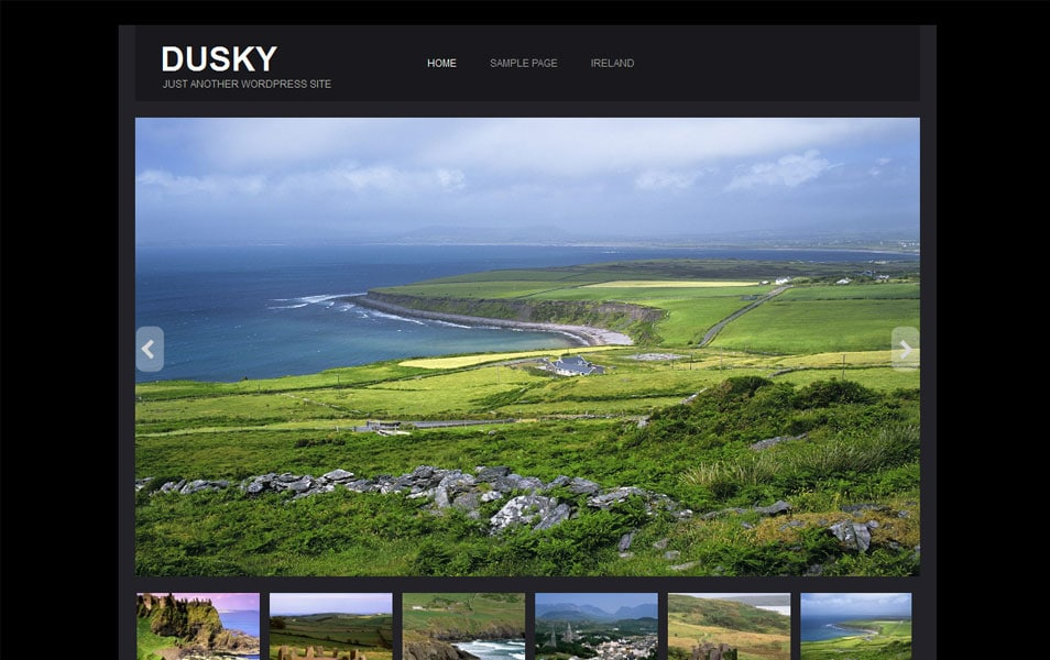 Dusky Free Portfolio WordPress Theme