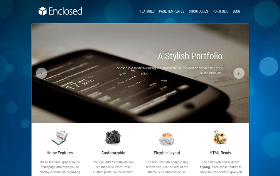 Enclosed Free Portfolio WordPress Theme