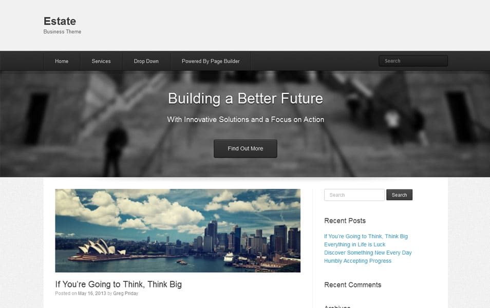 Estate Free Portfolio WordPress Theme