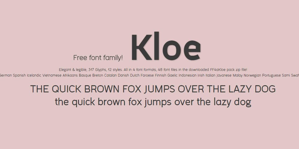 FF4a Kloe Free Font