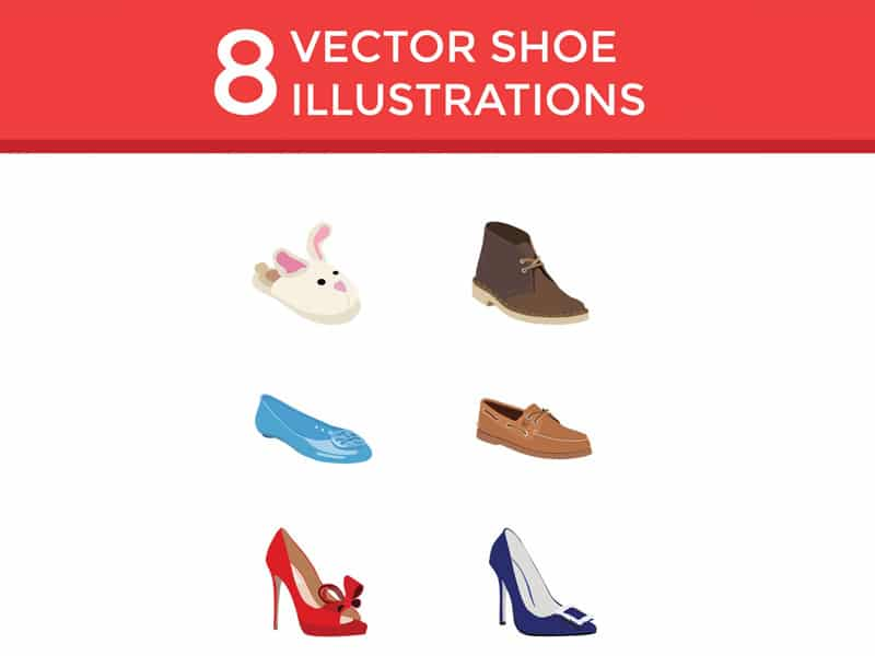 Flat Vector Shoe Icons