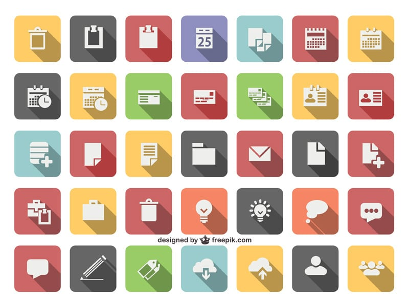 50 + Latest Flat Vector Icons (Ai,EPS,SVG) » CSS Author: www.cssauthor.com/flat-vector-icons