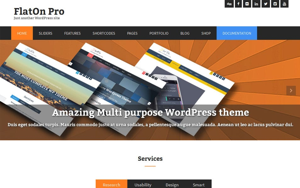 FlatOn Free Portfolio WordPress Theme