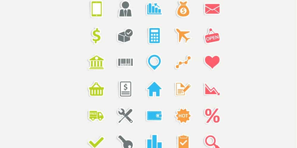 Free Business Sticker Vector Icons
