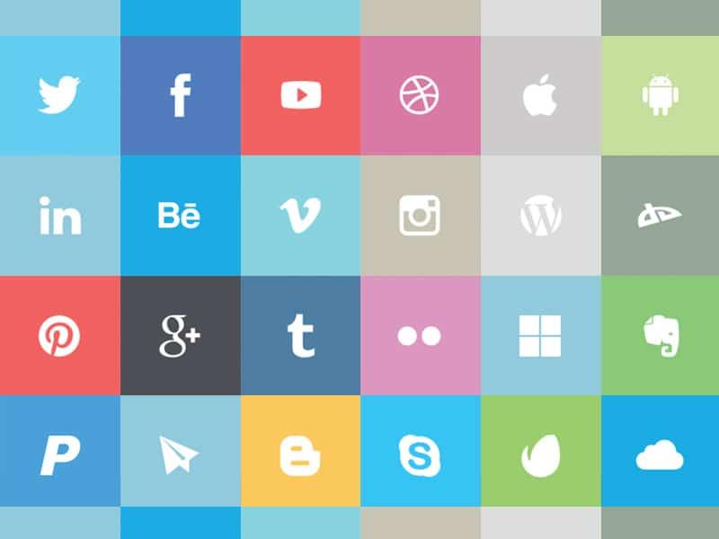 Free Flat Social Vector Icons