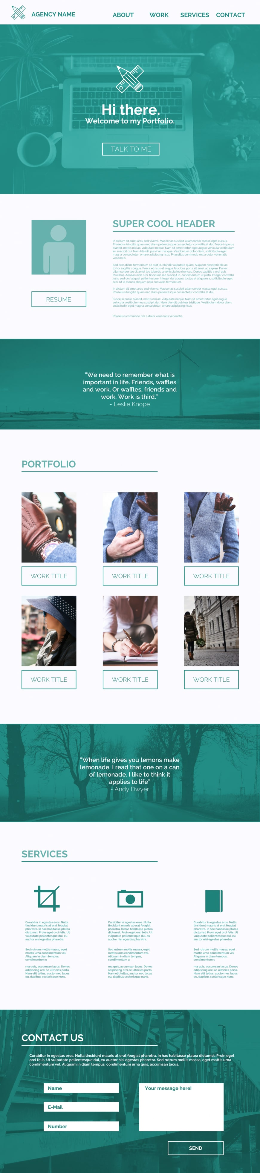 Free Single Page Website Templates PSD » CSS Author