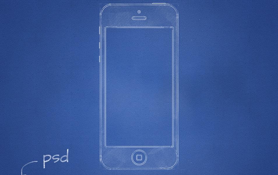 Free Psd Blueprint Mockup