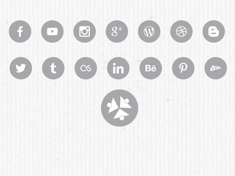Free Social Flat Icons