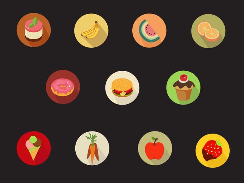 Free Tasty Flat Food Icons