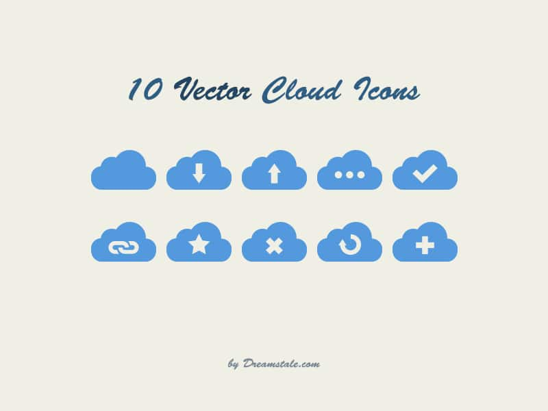 Free Vector Cloud Icons