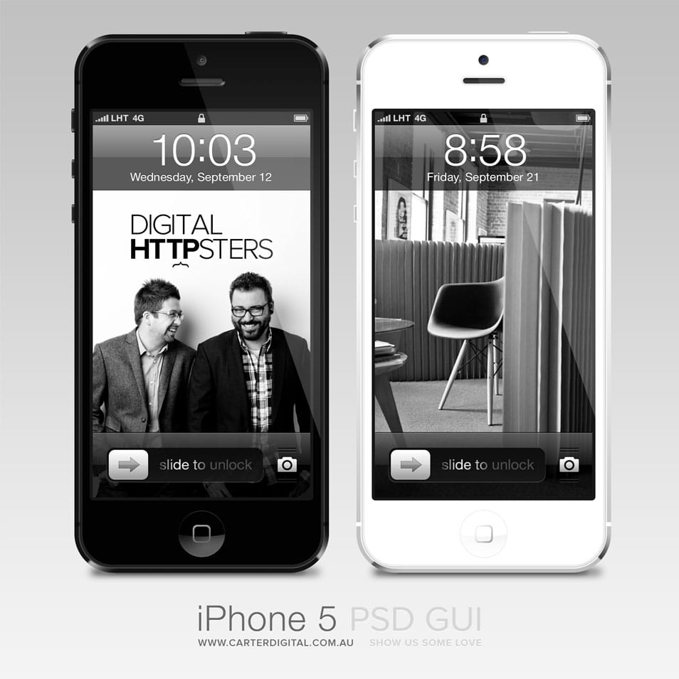 Free iPhone 5 GUI v2