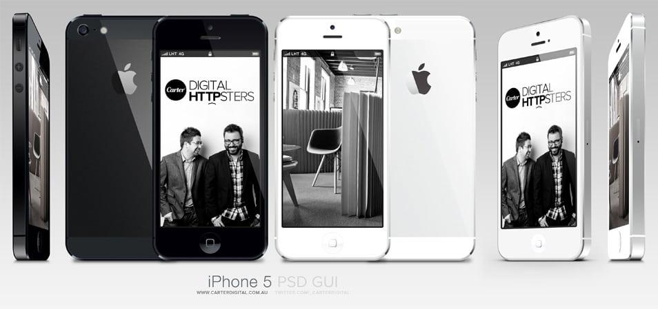 Free iPhone 5 (PSD) GUI V4